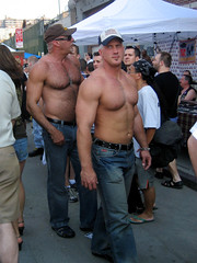 Woah! (jase (iilgemini)) Tags: bear nyc shirtless hairy hot male leather masculine muscle chest folsom guys cap