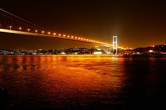 Istanbul: The Bridge (orgutcayli) Tags: city bridge light sea reflection night turkey interestingness interestingness1 istanbul explore deniz bosphorus gettyimages bogaz ortakoy sehir orgutcayli alemdagqualityonlyclub turkiye bogazkoprusu orgutcayl