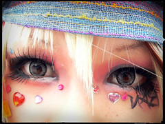 Jewelled-Eyes (Danz in Tokyo) Tags: light people white color face rose japan dark tokyo eyes shadows harajuku