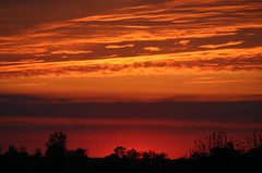 A Sailor's Delight (belindakelle) Tags: sunset red orange skyline kentucky maysville themered