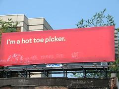 """I'm a hot toe picker"" Cartoon Network billboard on Ponce (stupid clever) Tags: atlanta billboard ponce cartoonnetwork"