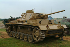 Panzer 3 III ready to go in the rain (rikdom) Tags: army tank military 2006 armor tanks panzer bovington tankfest