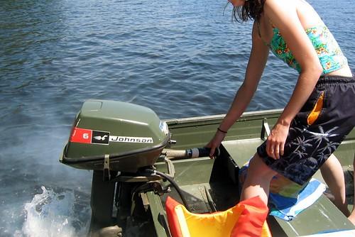 camp lake water boat maine johnson m motor