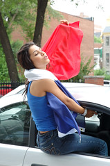 She Embraces The Flag (austinhk) Tags: world brazil canada france cup brasil germany french football nikon flickr montral d70 quebec nikond70 montreal fifa soccer d70s 2006 flags wm menschen qubec babes fans cheer worldcup nikkor monde coupe crowds mundo copa fever francais coupedumonde worldcup2006 flickrbabes copadelmundo austinhk austink 2006germany