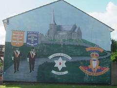 Shankill Rd Supports Drumcree, Shankill Road, West Belfast (Venichka) Tags: ireland orange mural unitedkingdom banner murals belfast northernireland unionist oo starofdavid troubles protestant ulster portadown orangemen shankill orangeman orangeorder shankillroad drumcree herewestand