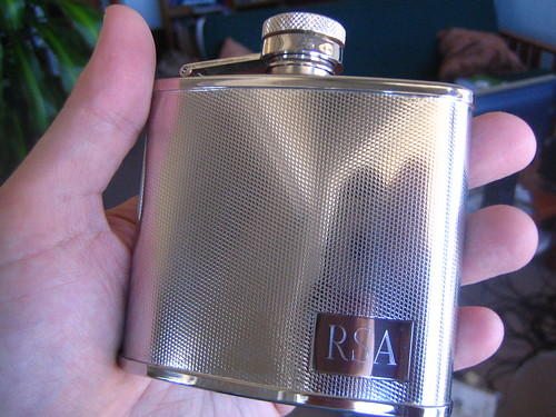 A little rum for the Ghost Hunt! I think I need a bigger flask.