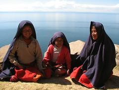 Taquile Girls (amy allcock) Tags: lake peru laketiticaca titicaca june island 2006 taquile puno isletaquile