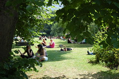 Lunchtime in the park (qwertyuiop) Tags: park people bristol geotagged heatwave templechurch geolat51451821 geolon2586738