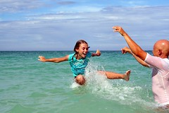 throwing the girl (lucy96734) Tags: family fun dad child z lanikaibeach