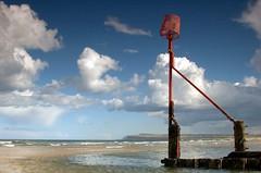 Standing firm (~Glen B~) Tags: uk sea art beach sand nikond70 cleveland groyne teesside redcar groynes tamron28300mm marskebythesea satelliteportfolio