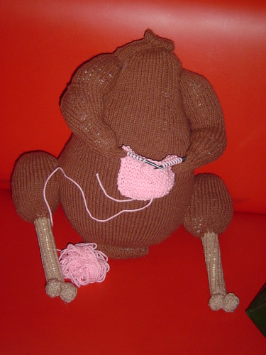Matthew's knitting turkey