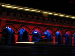 Festival of lights 2006 (Aguno) Tags: berlin canon nightshots oberbaumbrcke aguno powershots3 festivaloflights2006