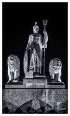 Royal Britannia ( Stormont } (D.K.o.w) Tags: royalbritannia stormont parliamentbuildings nightshoot stilllife statue night northernirelandlandmark belfast canon7dmkii mono black white bw