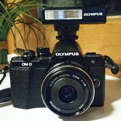 Olympus OM-D E-M10 Mark II with FL-14 (nicepicsnapper) Tags: olympus fl14 flash omd em10 mark ii flashlight 17mm 18 gear camera porn black micro four thirds mft