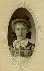 South Dakota Girl (~ Lone Wadi Archives ~) Tags: aberdeensouthdakota cabinetcard portrait mysterious unknown beauty greatplains lovely
