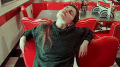 At Diner (Simo_za) Tags: diner 50s american cinematic people girl olympus youth