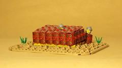 Testudo formation (legophthalmos) Tags: lego testudo formation roman soldier rome history war warfare siege shield