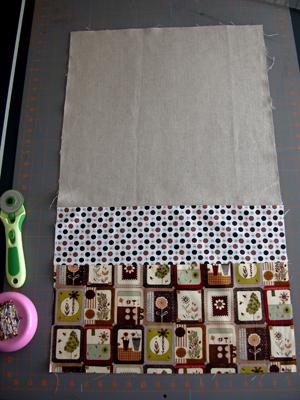 1. Prep fabric