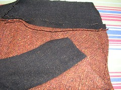 orange skirt yoke