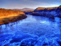 Icy River ( D L Ennis) Tags: mountains ice river virginia frozen awesome blueskies icy hdr blueridgeparkway jamesriver brightsun naturesfinest anawesomeshot goldenphotographer
