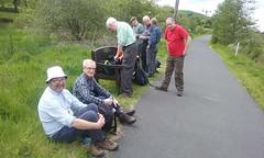Walking group near Peebles, June 2015 walk