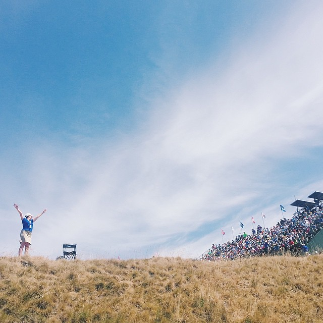 Not the finish we were looking for by Dustin Johnson, but he gave one heck of an effort all week. Congratulations to Spieth for winning The Masters and U.S. Open in the same year!! // #hot #vsco #vscocam #sports #chambersbay #usopengolf #spieth #golf #tac