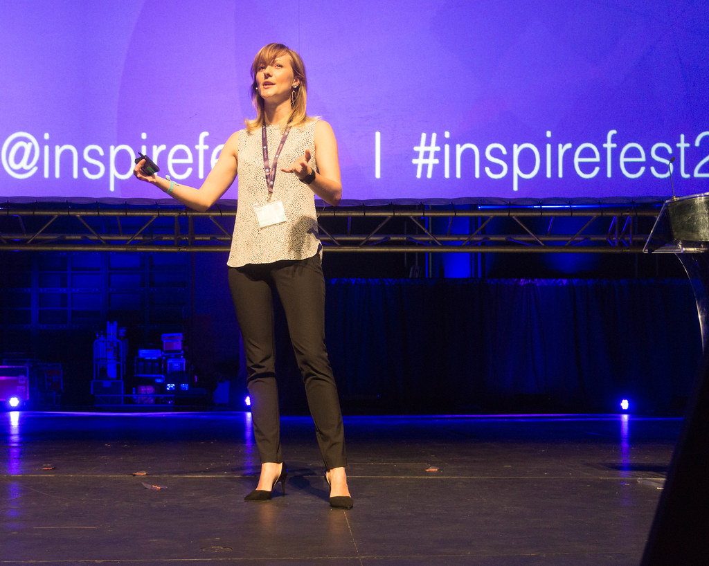 GAIA DEMPSEY AT INSPIREFEST 2015 [CO-FOUNDER, MANAGING DIRECTOR, DAQRI INTERNATIONAL] REF-105809