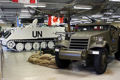 M113 Armored Personnel Carrier and M3A1 White Scout Car (HistoricAir) Tags: museum army military vehicles un unitednations m113 m3a1 historicair canadianmilitaryeducationcentre