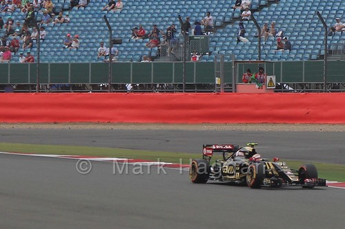 Pastor Maldonado in Free Practice 3 at the 2015 British Grand Prix