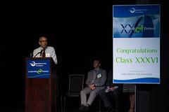 Michael Khoury, president of Detroit Cristo Rey High School, addresses graduates of Leadership Detroit Class XXXVI at the June commencement.