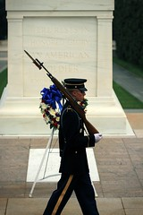 image (Damgaard, (TheObsessivePhotographer.com)) Tags: cemetery arlington america soldier army dc washington dress m1 tomb guard national unknown bayonette