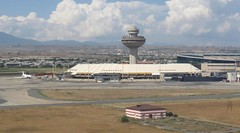 Zvartnots International Airport, Yerevan, Armenia: aerial view (WlNGS) Tags: plane airport torre jet aerialview aeroporto terminal aeroplane apron armenia flughafen flugzeug yerevan aeroport aeropuerto runway airliner avion controltower evn zvartnotsinternationalairport udyz zvartnot