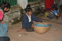 basket for re-purposed rice from the monks (cam17) Tags: laos mekong luangprabang luangprabanglaos ricebasket almsparade beggarsbasket donationsbasket repurposebasket