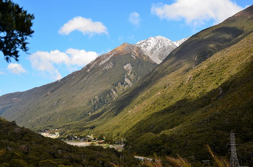 Village of Arthurs Pass, Arthur's Pass National Park, New Zealand.