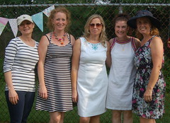 The fundraiser organizers: Kathy McGuinness, Louise Moore, Sharon Doogan, Fidelma McGroary & Colette Gallagher Mohan