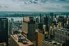 Matchbox cityscape (Мaistora) Tags: city buildings architecture tower skyscraper cityscape landscape river horizon sky clouds skyscape skyline sunny sunlight light shadows birdseye analog film vintage look feel nyc ny newyork manhattan totr