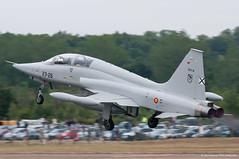 Spanish F5 Departure (Dave Lockwood DA12) Tags: nikon aviation airshow lightroom fairford riat royalinternationalairtattoo raffairford d300s tamron150600 riat2015