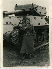 M10 tank destroyer of the 1223rd Self-Propelled Artillery Regiment (or SAP), 29th Tank Corps, 5th Guards Tank Army, 3rd Belorussian Front. The exact date unknown (late 1944 - 1945).<br />52 M10 vehicles were delivered to the Soviet Union in 1944.