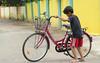 Park (Nagarjun) Tags: bicycle kerala cycle barefoot learning kiran kochi kanishka kinu aluva conventroad2 paravurjunction paravurkavala