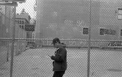 1-672 (grishut) Tags: nyc newyork les 35mm leica iii 50mm street streetphotography citylife fencelife