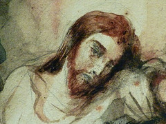 DELACROIX Eugène,1826 - Le Christ au Jardin des Oliviers, Eglise St-Paul-St-Louis, Paris, Etude (drawing, dessin, disegno-Louvre RF23325) - Detail 43 (L'art au présent) Tags: drawing dessins dessin disegno personnage figure figures people personnes art painter peintre details détail détails detalles 19th 19e dessins19e 19thcenturydrawing 19thcentury detailsofdrawing detailsofdrawingdessins croquis étude study sketch sketches tableaux louvre museum eugènedelacroix eugène delacroix france lechristaujardindesoliviers christinthegardenofgethsemane gardenofgethsemane christ jardindesoliviers aquarelle watercour watercolor man men homme romantic romantique romantisme romanticism romance armes weapons soldats soldiers rocher rock nuit night ombre shaddow paris