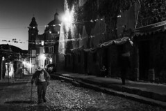 . (Eduardo S3) Tags: realdecatorce bw mexico paisaje sanluispotosì landscape blancoynegro iglesia empedrado calle atardecer street church