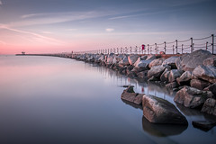 Herne Bay (Nathan J Hammonds) Tags: herne bay water long exposure hdr nd 10stop calm coast kent breaker rocks sea sky nikon d750
