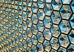 flash reflectors (christikren) Tags: wien vienna store reflectors flash schaufenster reflectionen mirror colors farben glas spiegel austria modern deco spotlight kristallwelt kärntnerstrasse blue white yellow swarovski highlight foto leuchten dekorationen reflets geometriegeometry justedutalent art schmuck panasonic travelerphotos travelersphoto