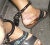 Jogging in 1.5 Kg leg irons (asiancuffs) Tags: handcuffs handcuffed arrest arrested shackles shackled inmate prisoner