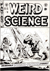 "Weird Science #15 (1952), ""Captivity"" cover by Wally Wood (Tom Simpson) Tags: weirdscience 1952 captivity cover wallywood 1950s art dinosaur spaceship rocket rocketship astronaut illustration comics comicbook"