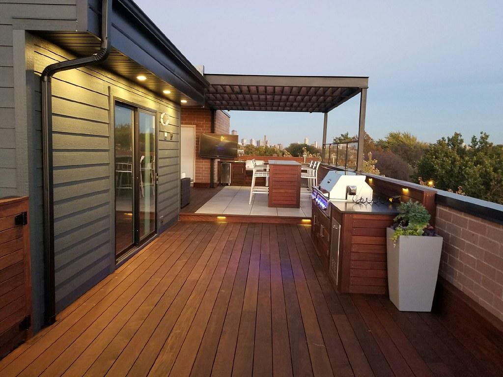Damen (Chicago Roof Deck And Garden) Tags Ipe Roof Planter Fiberglass Grill  Bar