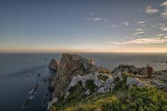 Cabo Peñas. (Amparo Hervella) Tags: cabodepeñas asturias españa spain agua paisaje roca nube largaexposición d7000 nikon nikond7000 comunidadespañola wewanttobefree