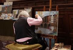 The artist (peeteninge) Tags: artist painter amsterdam schilder paintings schilderijen holland sonyrx10 sony