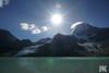 Berg Lake (ryan.kole32) Tags: britishcolumbia bc mountrobson mountrobsonprovincialpark provincialpark landscape nature beauty beautyinnature travel outdoors hiking bluesky clouds cloudy berglake berglaketrail glacier sunburst sunstreak sony sonya77 peaceful calm tranquil